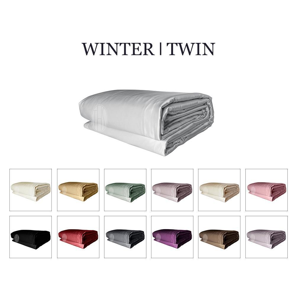 Luxury 2in1 Silk Comforter Set with Removable Silk Duvet Cover | Winter | Twin