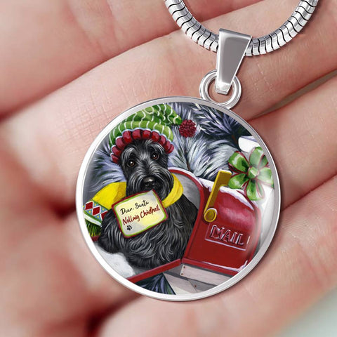 Christmas Scottie Letter For Santa - Necklace | HOT SALE