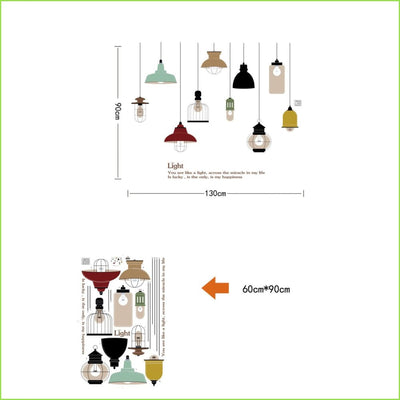 Vintage Lights and Lamps Wall Stickers on WallStickers.ie