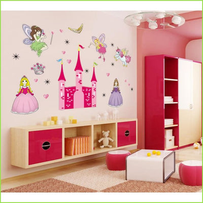 X Large Pink Princess Castle on WallStickers.ie