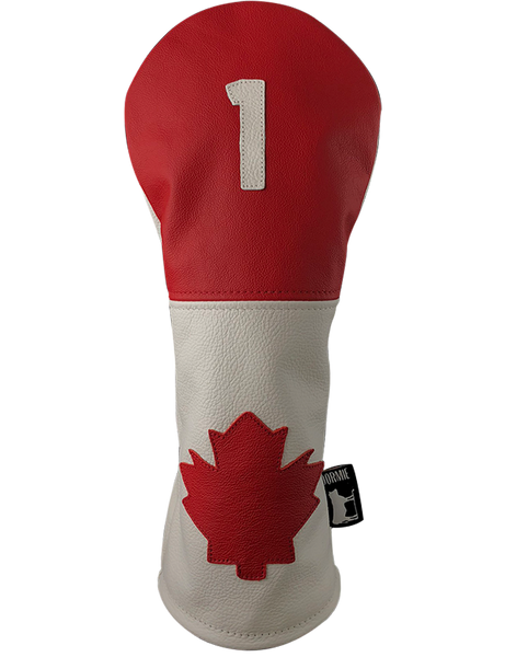 Dormie Workshop Canada 2 Panel with Leaf Leather Golf Headcover