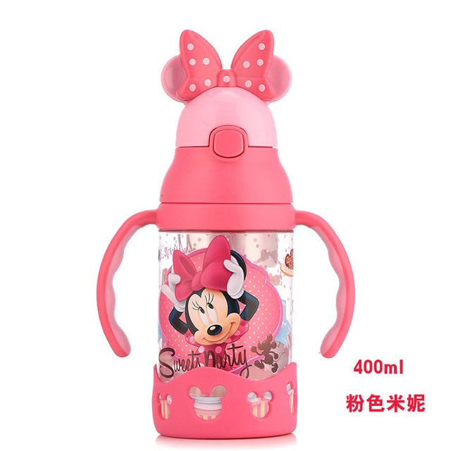 Disney baby cup children's sippy cup learn to drink cup baby kettle leak-proof baby drink cup with handle