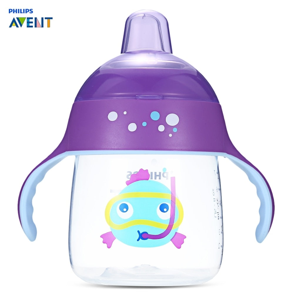 Philips AVENT 260ml/9oz Cartoon Baby Soft Spout Cup Water Drinking BPA Free Bottle Child Feeding Cup For 12m+ Baby Travel School