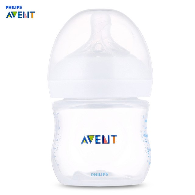 Philips Avent 4oz / 125ml Baby PP Milk Bottle Training Feeding Drinking Cup Unique Anti-Flatulence Valve Technology Kids Bottles