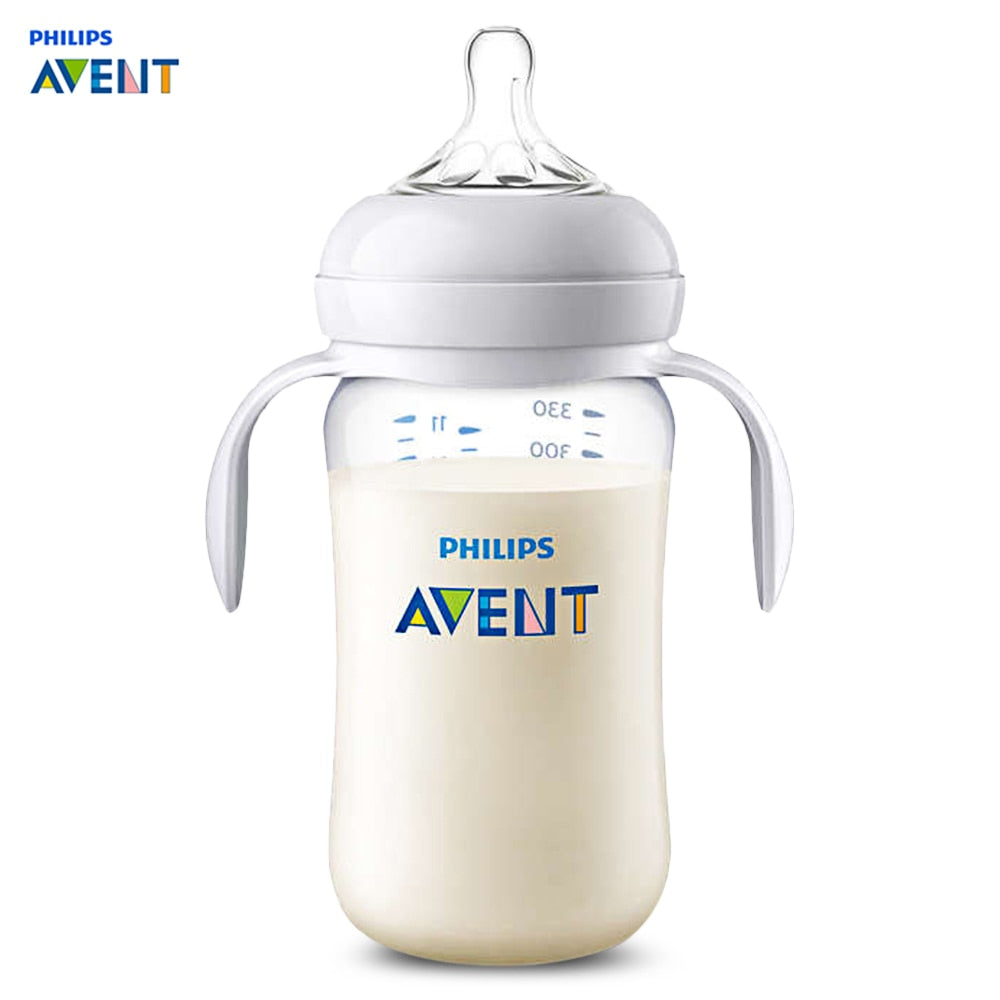 Philips Avent 11oz / 330ml Baby Handle Milk Bottle Training Feeding Drinking Cup Skin-Soaked Pacifier Ergonomic Handles Bottles