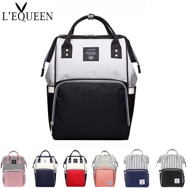 Large Capacity Mummy Maternity Diaper Bags Multifunction Travel Backpack Handbag Splicing Color Baby Nursing bag baby Care