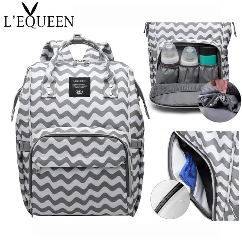 Polyester Mummy Maternity Nappy Bags Large Capacity Baby Diaper bag Travel Backpack Designer Baby Nursing Bag Stroller Handbag