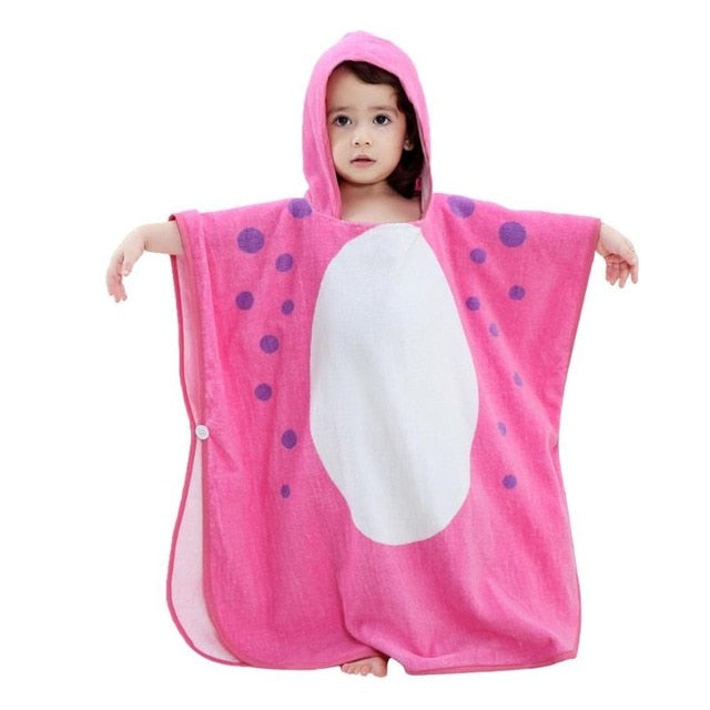 Cute Boys Girls Animal Ears Bathrobe Hooded Bath Robes Baby Cartoon Towel Infant Baby Hoodies Belt Bathing Robes Sleepwear