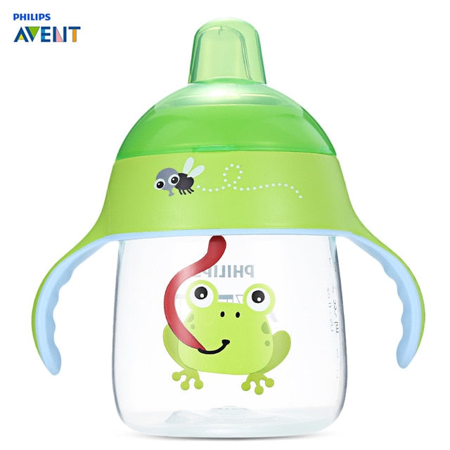 Philips Avent 9oz / 260ml Baby Feeding Bottles BPA Free Animal Pattern Soft Handle Sipping Feed Bottle Training Drinking Cup