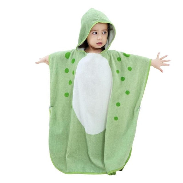 MICHLEY Kids Towel 2018 Toddler Soft Cartoon Animal Baby Cotton Hooded Bathrobe Infants Beach Bath Towel Bathing Blanket