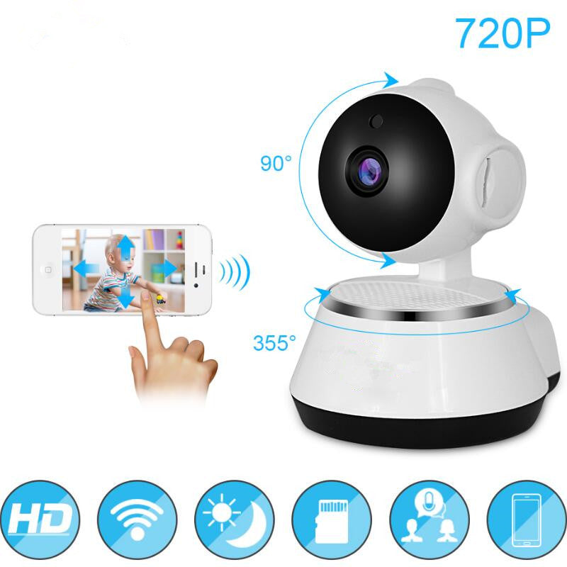 Baby Monitor 720P WiFi IP Camera  HD Wireless Smart Baby Camera Audio Video Record Surveillance Home Security Camera