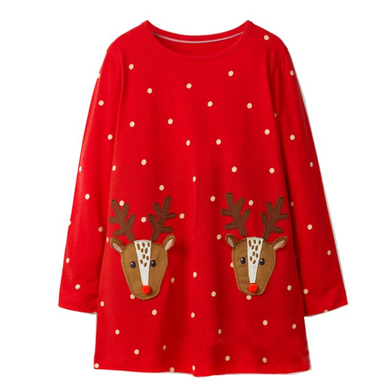 Christmas Baby Dress for Girls Clothes Robe Enfant Fille Kids Cotton Dress Princess Costume Animal Toddler Girl Dresses 6Years