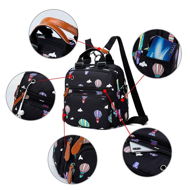 Mummy Diaper Bag Hot Air Balloon Print Waterproof Large Nursing Travel Maternity Backpack Stroller Baby Nappy Bag Organizer Bag