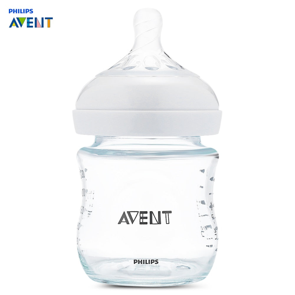 Philips Avent 4oz / 120ml Baby Glass Milk Bottle Training Feeding Drinking Cup