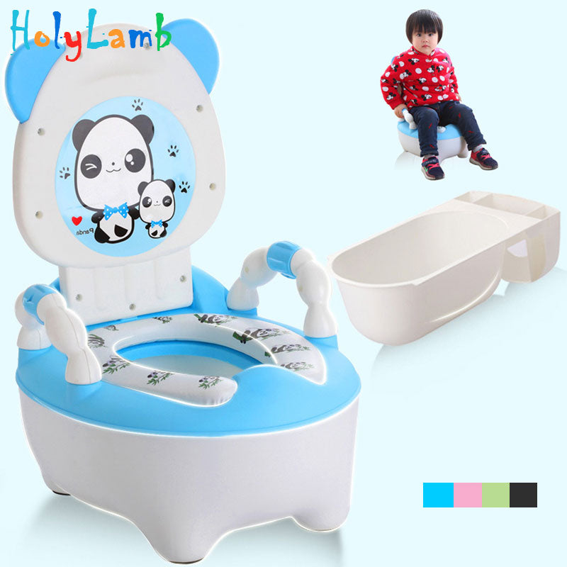 Baby potty toilet bowl training pan toilet seat children's pot kids bedpan portable urinal comfortable backrest cartoon cute pot