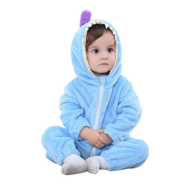 Baby Clothing Boy Girls Sleepwear Cartoon Animal Soft Flannel Animal Baby Pajamas Cute Warm Boys Girls Hooded Robes