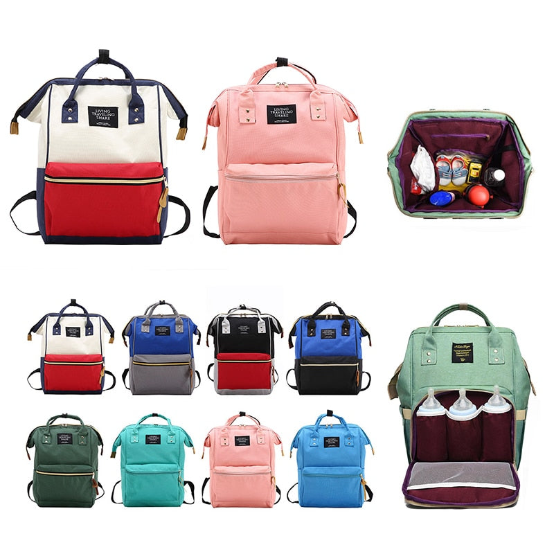 Fashion Mummy Backpack Oxford Travel Backpacks for Girls Maternity Nappy Bags Large Capacity Rucksacks for Mom Feminina Mochilas