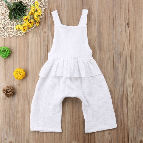 Pudcoco Newborn Toddler Baby Girls Summer Backless Strap Ruffles Romper Jumpsuit Playsuit Cotton Casual Baby Girl Clothing 0-3Y