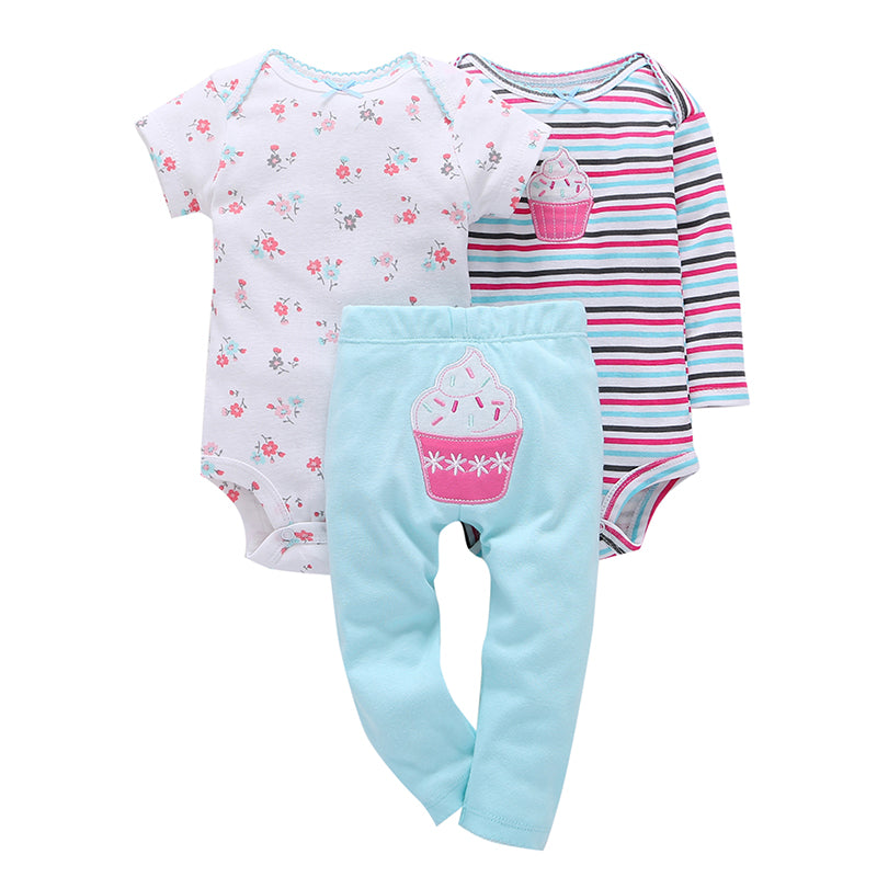 baby girl clothes stripe floral romper+pants cake embroider summer newborn outfit new born boy set toddler infant clothing