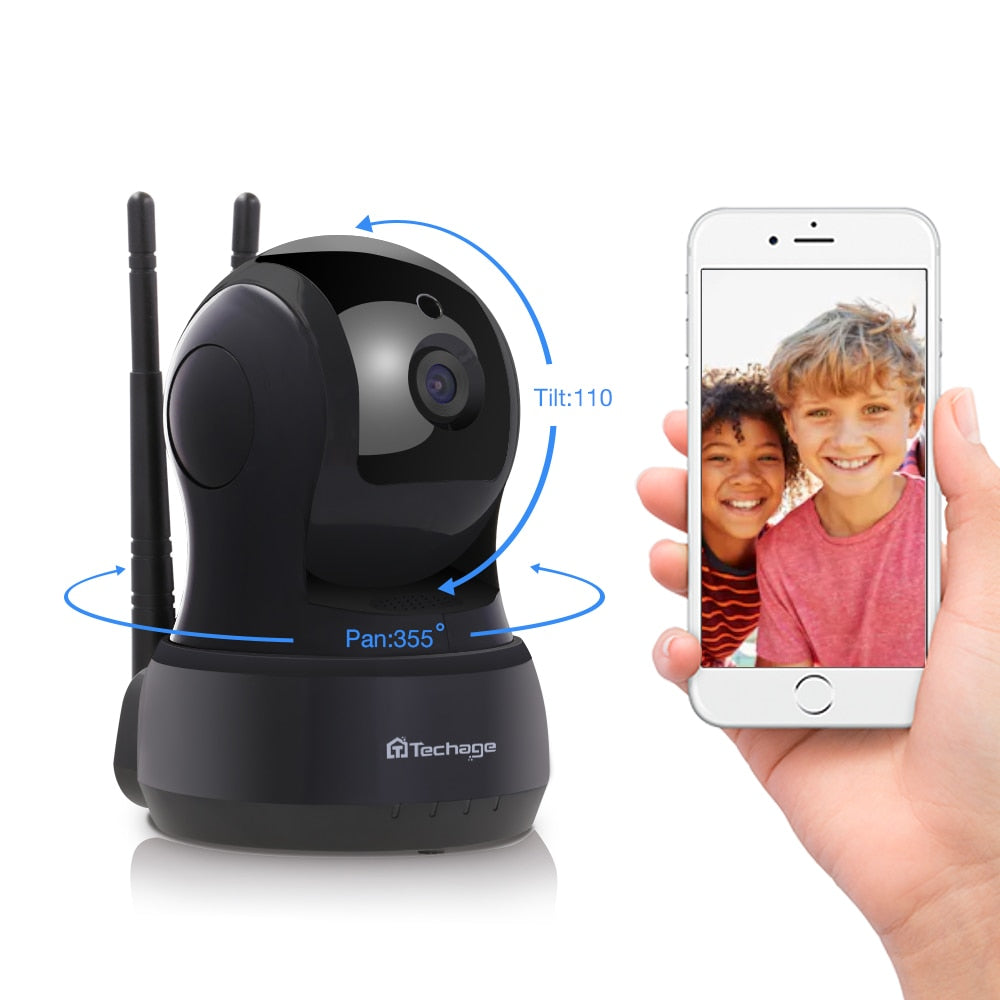 Techage Yoosee 1080P Home Security CCTV Wireless 4G Camera 2mp Two-Way Audio Wifi SD Card Baby Monitor Night Vision Surveillance