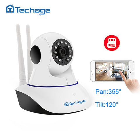Techage 1080P Wireless IP Camera Pan/Tilt Dome Indoor CCTV WiFi Camera Two-Way Audio Baby Monitor Video Security Surveillance