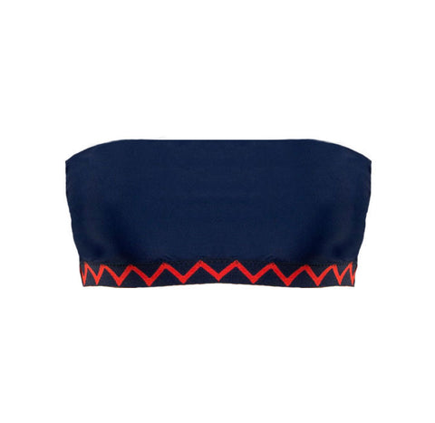 Bandeau with Zig Zag Detail