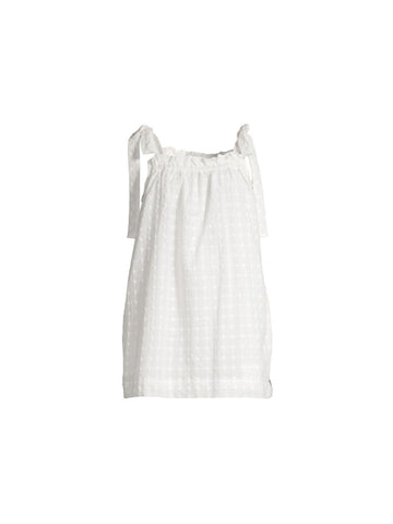 Eaton Burgers Mini Dress in White