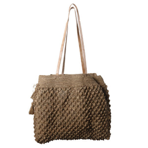 Grace Raffia Bag in Tea