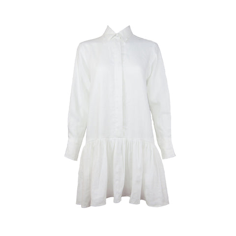 Lotte Dress in White Linen