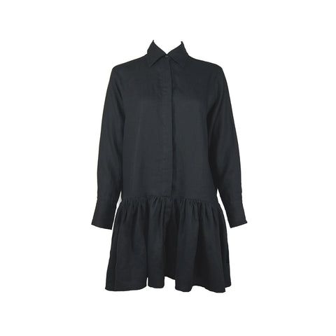 Lotte Dress in Black Linen