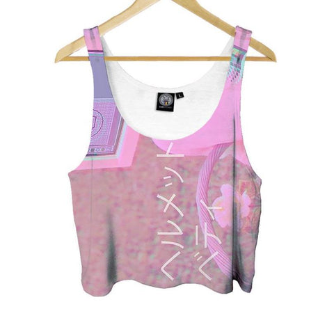 """Digital Pink"" Crop Top"