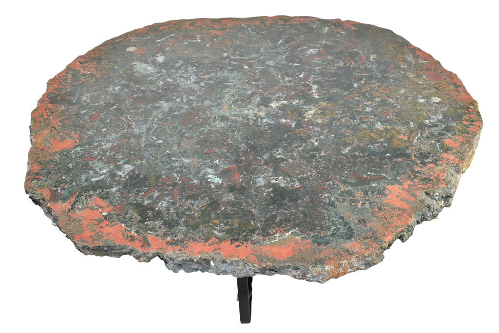 Jasper Coffee Table Large Natural, Dark Green and Red