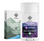 Natural Deodorant + Soap Bundle