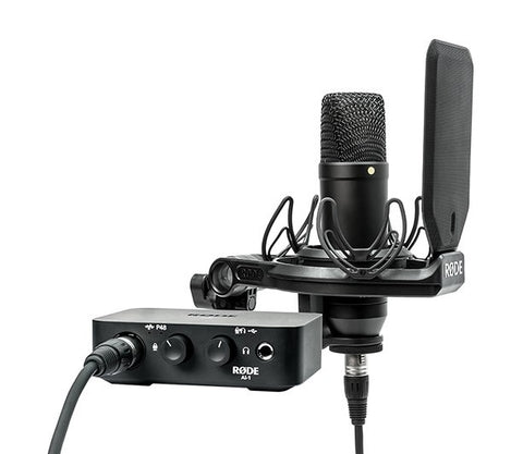 Rode Complete Studio Kit w/ AI-1 Audio Interface, NT1 Microphone, SMR Shockmount, and Cables