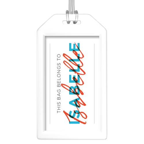 Personalized 'This Bag Belongs To' Luggage Tags