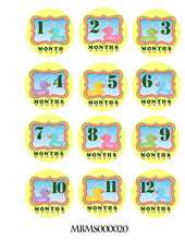 Monthly baby stickers. Duckies Onesie month stickers. Ducky, rubberducks