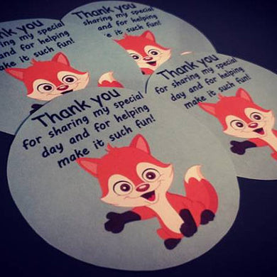 Baby shower Thank you stickers. The perfect way to thank your guests at your baby shower