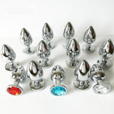 3 SIZES 13 COLORS JEWELED METAL PLUG  419Positive