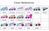 15 COLORS JEWELED STAINLESS STEEL PLUG  419Positive