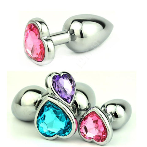 MULTI COLOR JEWELED STAINLESS STEEL PLUG  chefjeffcooked