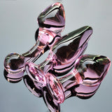 3 STYLES PINK GLASS CRYSTAL BUTT PLUG  419Positive