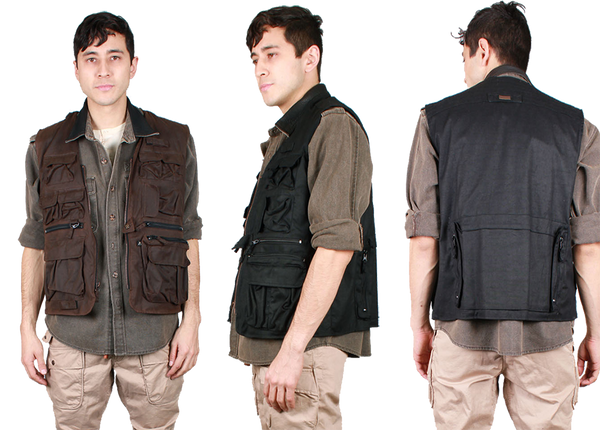 Traveller Multi-Pocket Vest in Black