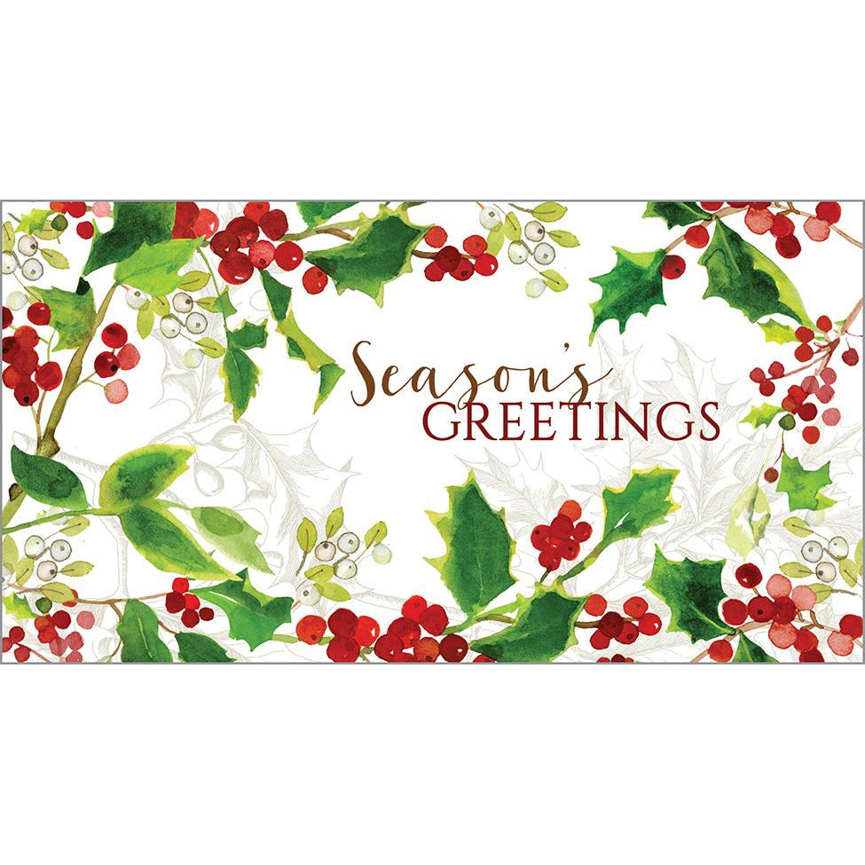 Money/Gift Card - Red Berries/Holly, Gina B Designs
