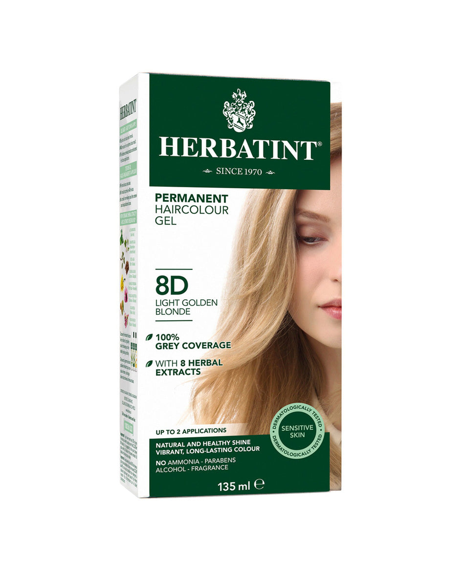 Herbatint permanent haircolor gel 8D Light Golden Blonde 135ml