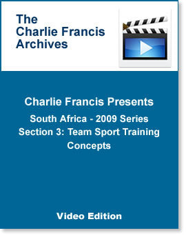 South Africa Series Section 3: Team Sport Training Concepts