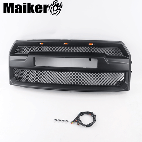 4x4 Car grilles with light for F150 Off road ABS front grilles 15-17 accessories