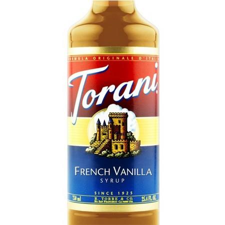 Torani French Vanilla Syrup 750 mL Bottle
