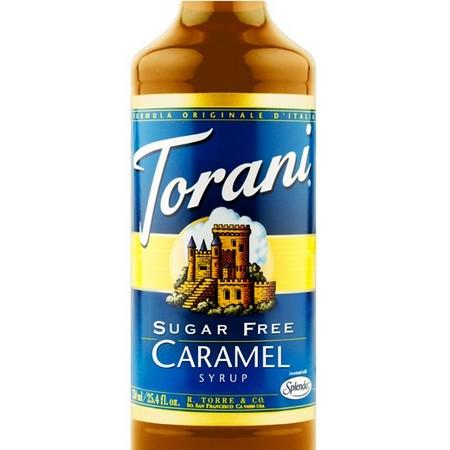 Torani Sugar Free Caramel Syrup 750 mL Bottle