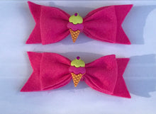 Load image into Gallery viewer, I scream, You scream, We all scream for Ice Cream!! Hair bow clips