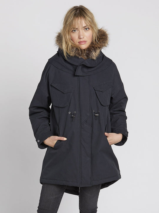 Parka Rainy Shiny 5K - Black (B1531959_BLK) [F]
